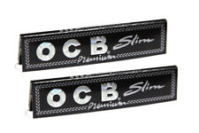 OCB PREMIUM SLIMS KING SIZE CIGARETTE ROLLING PAPERS - 2 BOOKLETS