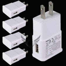 5 Pack USB Power Adapter AC Home Wall Charger For Samsung S6 S7 Edge Note US