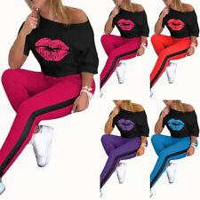 Damen Trainingsanzug Hausanzug Sweatshirt Pullover Hose Jogginganzug Sportanzug