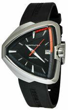 Hamilton Ventura Elvis 80 Asymmetric Black Rubber Strap Men's Watch H24551331