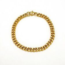 "Fashion Link 7.5"" Chain Unique Jewelry 24K Yellow Gold Filled Charms Bracelet"