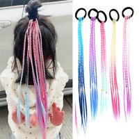 2020 Girls Hairpin Twist Wig Elastic Hair Band Hair Ring Wig Twist Braid Rope US