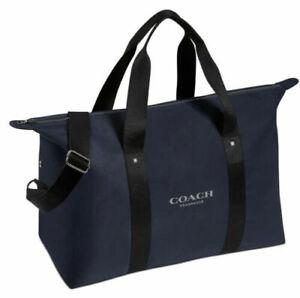 COACH FRAGRANCES Dark Blue Weekender Travel Duffle Shoulder Bag NEW