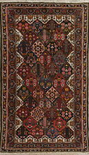 Antique Vegetable Dye Garden Design 7x12Bakhtiari Oriental Hand-Knotted Area Rug