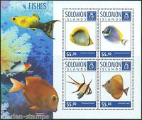SOLOMON ISLANDS  2014 FISHES  SHEET MINT NH