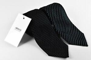 Men's tie Armani Collezioni SET OF TWO High quality 100% Silk