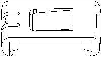 Stellelement Sitzverstellung innen - Topran 102 921
