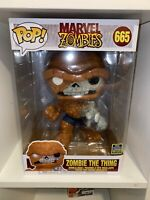"Funko Pop! Marvel Zombies: Zombie The Thing 10"" Inch #665 - 2020 SDCC Exclusive"