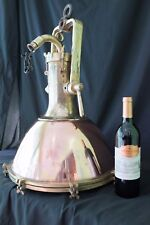 Salvaged Ship Cargo Fox Light Chandelier Nautical Bronze Marine Light Copper