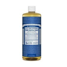 Dr Bronner`s Organic Peppermint Castile Liquid Soap (946ml) - All Natural