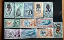 1961 Sierra Leone Stamps - Independence & Overprints - MNH apart from 1/3d