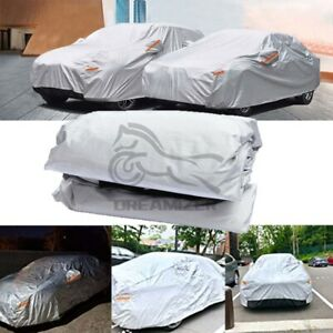 XL 6 Layer Heavy Duty Silver Car Cover Waterproof Dust UV Resistant  Protection