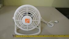 Small Fan Desk Personal Table Cooling Electric Adjustable Tilt Stand WHITE NIB