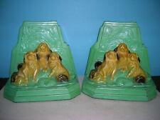 Antique Ronson X-1 Pekingese dogs bookends, original finish, fine condition