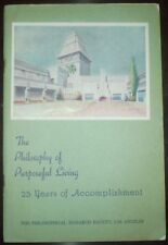 PHILOSOPHICAL RESEARCH SOCIETY, MANY. P HALL, 25 YEARS OF ACCOMPLISHMENT, 1945