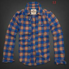 NWT HOLLISTER by ABERCROMBIE & FITCH MEN'S TEXTURED FLANNEL SHIRT SIZE MEDIUM