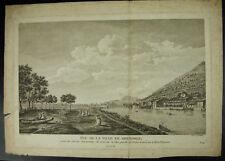Antique print Vue de Grenoble d'ap Ballin Porte Saint Laurent c1800 Alpes Isère