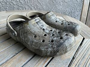 CROCS Dual Comfort Lined Crocband Clogs Realtree Camo Sandals Shoes Men's Sz 10