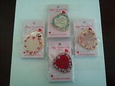 Disney Valentine Sweetheart Pin Set WDW Limited Edition Mickey, Minnie, Princess