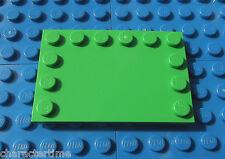 Lego 6180 4x6 vert vif tuile, mod avec rivets sur les bords x 1 ** neuf de la marque Lego **