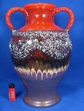 Rare 70´s XXL Jopeko Keramik Fat Lava Vase with stunning glaze 902 10 44  40cm