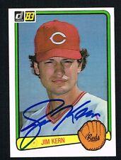 Jim Kern #355 signed autograph auto 1983 Donruss Baseball Trading Card