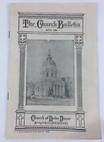 Vintage Antique The Church Notre Dame Bulletin Book July, 1928 NYC Very RARE