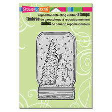 STAMPENDOUS RUBBER STAMPS CLING SNOW JAR CHRISTMAS STAMP