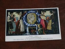 ORIGINAL GERMAN ROYALTY POSTCARD, KING LUDWIG II - J. DOLLENGER.