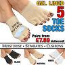 GEL OPEN 5 TOE SOCKS - Cushion Feet Dry Skin Athlete Foot Moisturising Separator