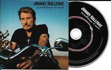 CD CARTONNE CARDSLEEVE COLLECTOR 1T JOHNNY HALLYDAY CA PEUT CHANGER LE MONDE