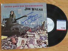 Joe Walsh signed There Goes The Neighborhood 1981 Record Psa / Dna