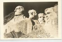MT. RUSHMORE MEMORIAL POSTCARD B&W PHOTO,1940's-VERNE'S PHOTO #R1155