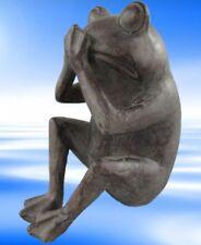 Figur Frosch Polystein farbe H.22x19cm Skulptur Geschenk Dekoration Standfigur