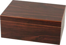 "50 CIGAR HUMIDOR WALNUT FINISH * NEW * H 5.12"" × W 12.21"" × D 8.66"""