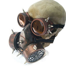 Retro Steam Punk Gas Mask with Goggles Unisex Cosplay Halloween Punk Mask