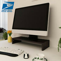 BLACK Computer Monitor Riser 19.5 inch Monitor Laptop Stand Desktop Stand Office