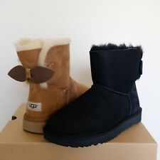 UGG Suede Bow Mini Suede Sheepskin Women's Boots