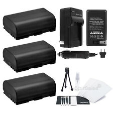 3x LP-E6 Battery + Charger for Canon EOS 7D 60D 5D Mark III