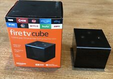Amazon Fire TV Cube (1st Gen.) 4K UHD Media Player- Excellent- All Accessories
