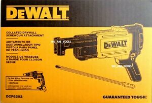 New In Box Dewalt 20V DCF6202 Collated Drywall Screwgun Attachment For DCF620