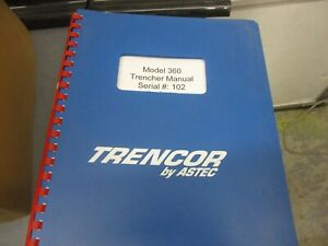 Astec Trencor  Model 360 Trencher Manual Chain Trencher