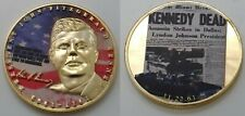JFK Gold Coin John F Kennedy Assassinated Shot Newspaper Jack 1963 Signature USA
