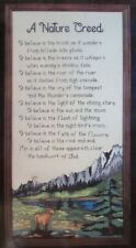 """Janlynn Counted Cross Stitch Kit #00-310 """"A Nature Creed"""" 10"""" x 20"""""""