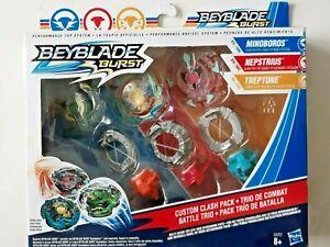 lot Toupies Beyblade Burst  trio de combat minoboros nepstrius treptune neuf