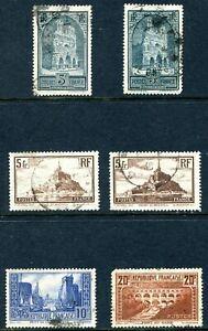 France 1930 - 1931 Used Lot with Die Varieties
