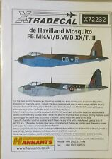 Xtradecal 1/72 X72232 dH Mosquito FB Mk.VI, B.VI, B.XX, T.III Decals
