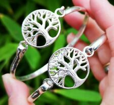 Genuine 925 sterling silver Tree of life bangle.
