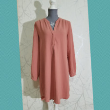Le Chateau Women's Pastel Pink Long Sleeve Shirt Dress | Size M