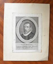 Gravure XVIIème - Johannes Buxtorf - Jean Buxtorf - Israel - Judaïsme